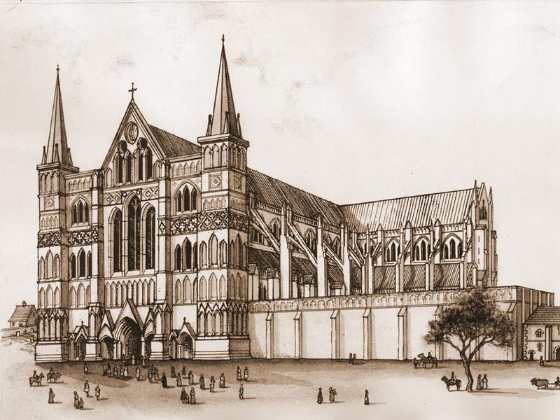 La cathédrale gothique de Kingsbridge