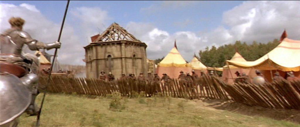 Jeanne d'Arc et une bastille lors du siège d'Orléans