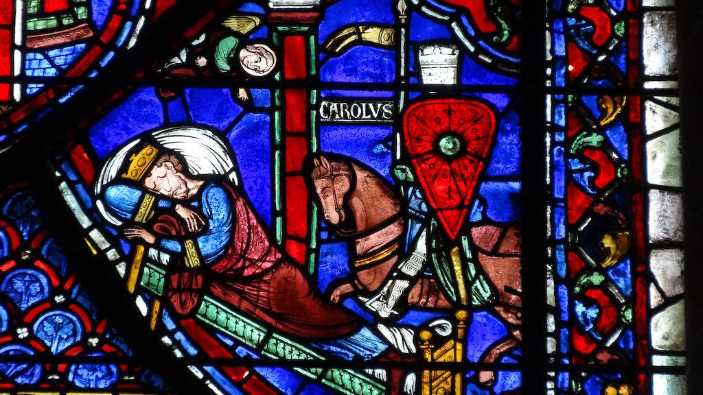 Vitrail de Saint Charlemagne. Cathédrale de Chartres.