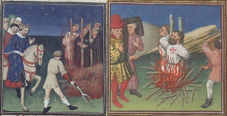bûcher des templiers